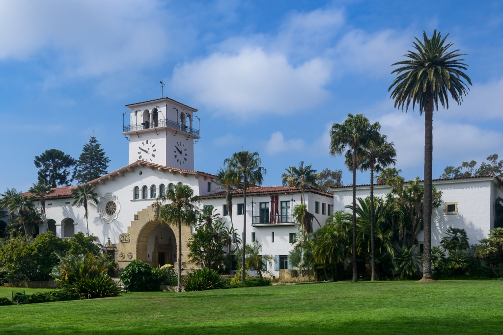 Exterior of the Santa Barbara County Courthouse in California