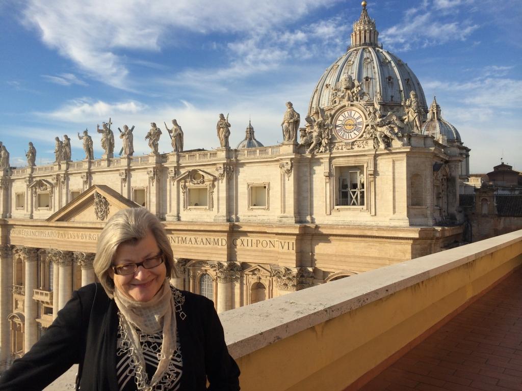 woman outside vatican city