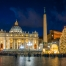 Saint Peter Basilica in Rome at Christmas